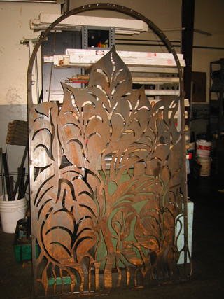 Plasma Cut Gate